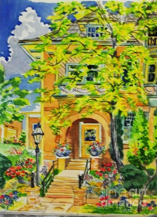 Victorian Sandstone Mansion Denver Colorado Digital Art by Annie Gibbons