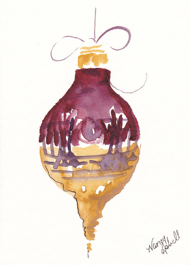 victorian watercolor ornament painting by michele