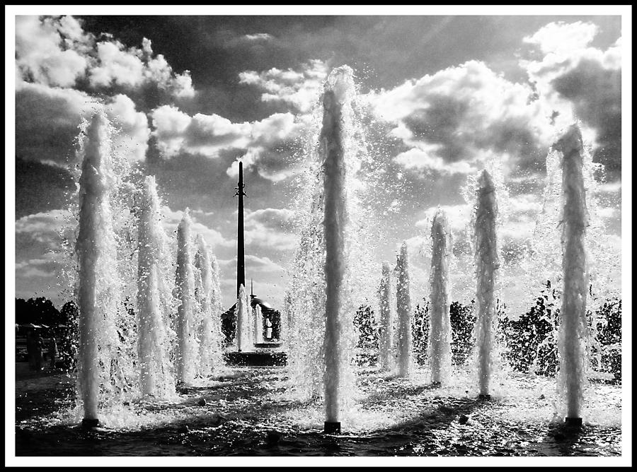 Moscow Photograph - Victory Park Fountains by Mark Britten