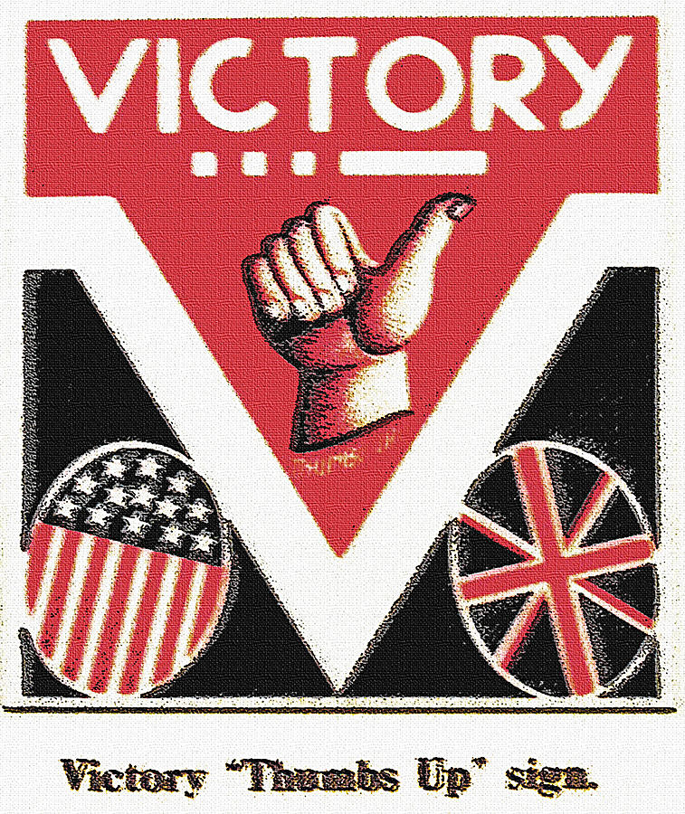 Victory Photograph - Victory Sign by Steve Ohlsen