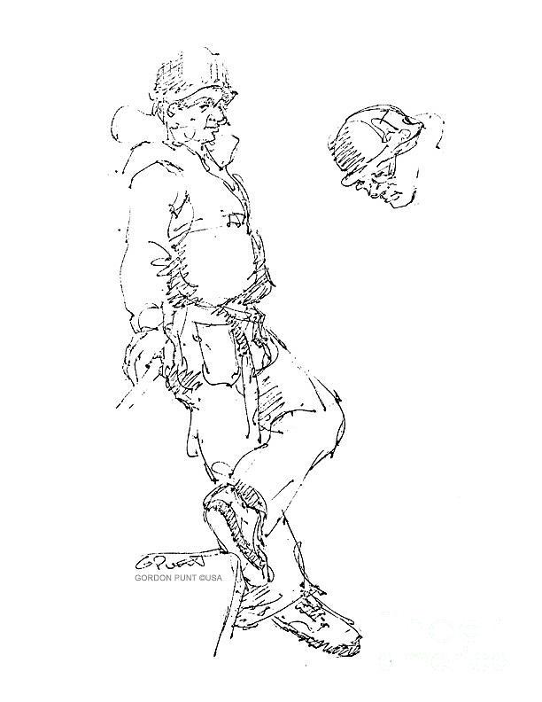 Drawings Drawing - Vietnam War Art-1 by Gordon Punt