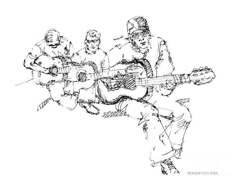 Drawings Drawing - Vietnam War Art-3 by Gordon Punt