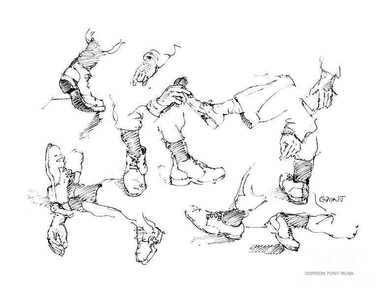 Drawings Drawing - Vietnam War Art-5 by Gordon Punt