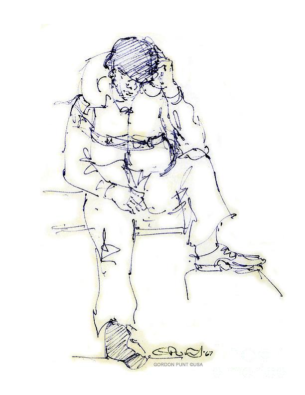 Drawings Drawing - Vietnam War Art-9 by Gordon Punt