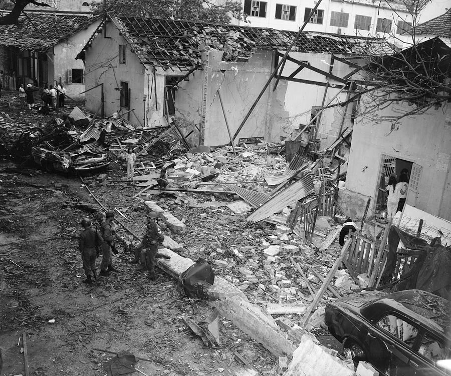 Destruction Photograph - Vietnam War, At 555 P.m. On December by Everett