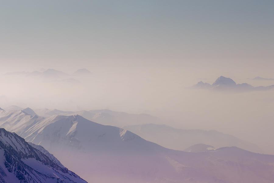 Horizontal Photograph - View Across Chamonix Valley by Ginny Battson
