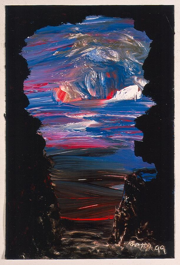 Paint Painting - View From A Cave On Venus by Rhetta Hughes