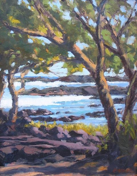 Seascape Painting - View From Leleiwi by Robert Weiss