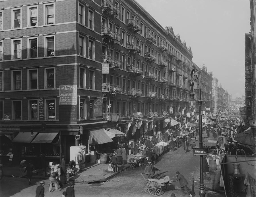 History Photograph - View From Rivington Street On New York by Everett