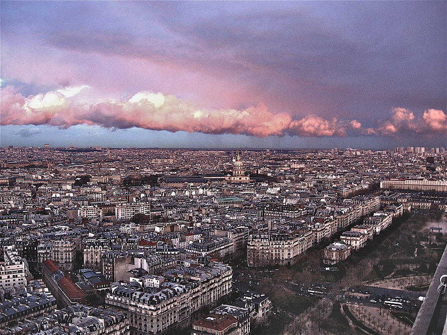 Eiffel Tower Photograph - View From The Eiffel 2 by David Ritsema