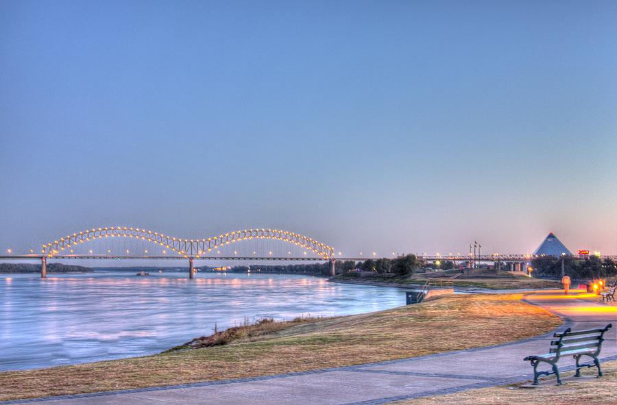 Mississippi River Bridge Photograph - View From The Park by Barry Jones