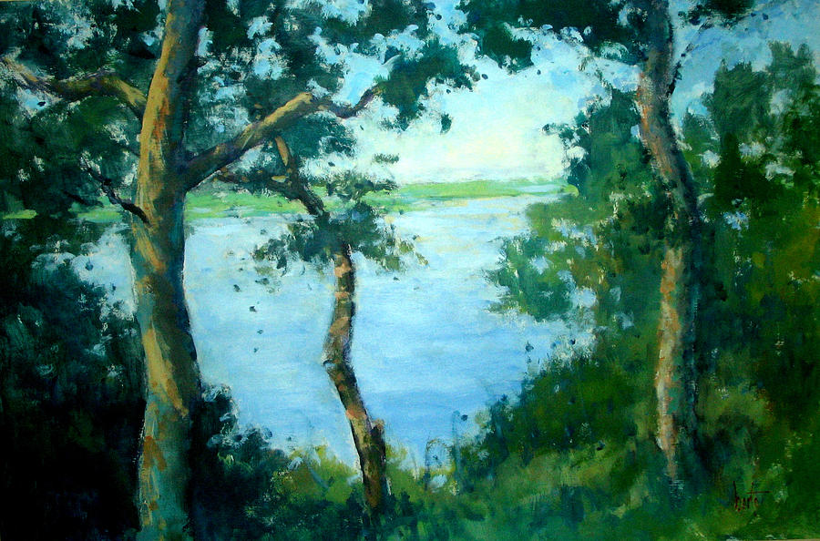 Sold Painting - View From Turtle Mound by Berto Ortega