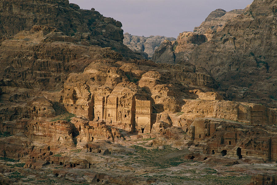 Color Image Photograph - View Of A Number Of Nabataean Tombs by Annie Griffiths