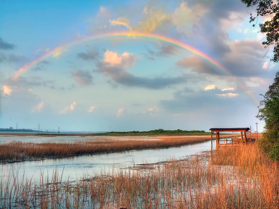 View Of Charleston Rainbow  Photograph by Jenny Ellen Photography