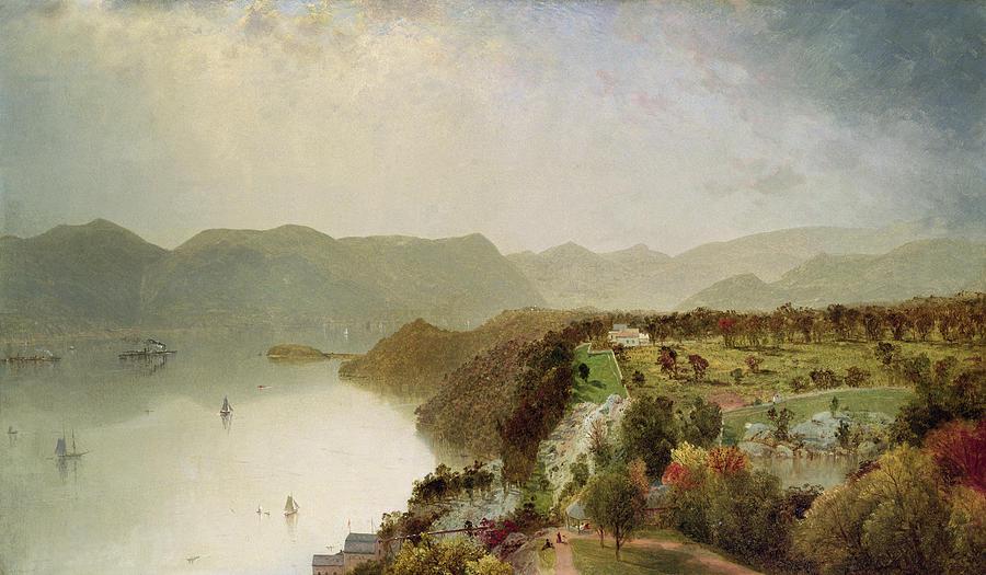 Inn Painting - View Of Cozzens Hotel Near West Point Ny by John Frederick Kensett