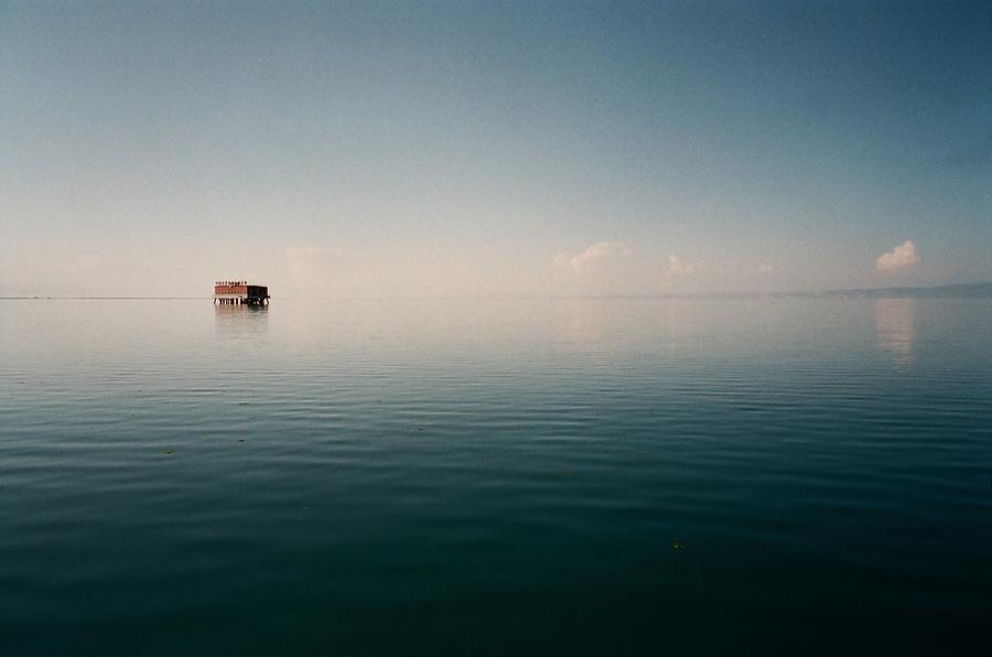 Horizontal Photograph - View Of Lake Qinghai by Dsa