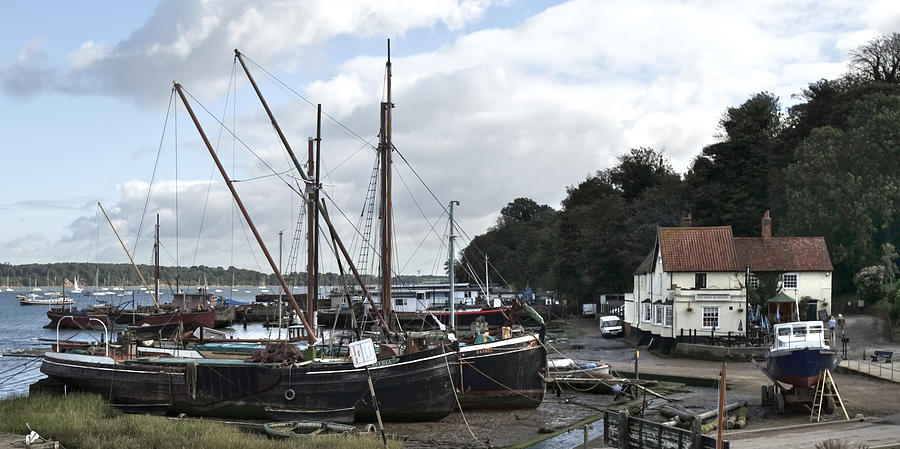 Pin Mill Photograph - View Of Pin Mill From Kings Yard by Gary Eason