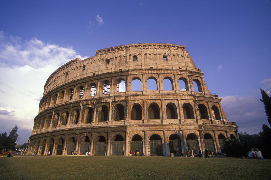 View Of The Colosseum, Rome, Italy Photograph by Daniel H. Bailey