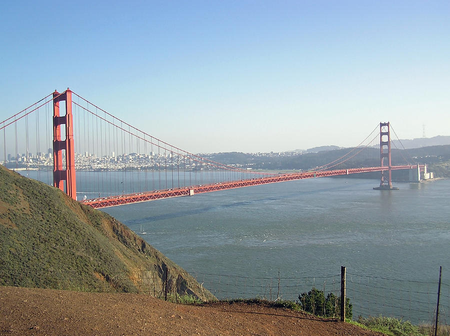 Golden Gate Photograph - View Of The Golden Gate Bridge And San Francisco From A Distance by Ashish Agarwal
