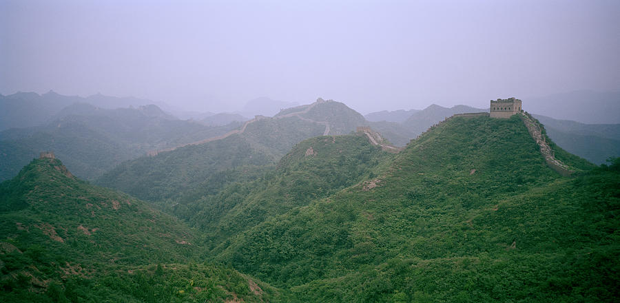 China Photograph - View Of The Great Wall Of China by Shaun Higson
