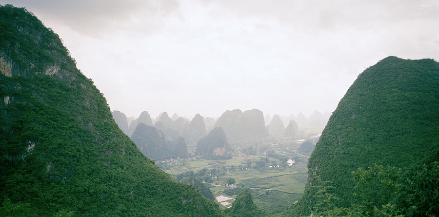 China Photograph - View Of The Guilin Mountains In Guangxi In China by Shaun Higson