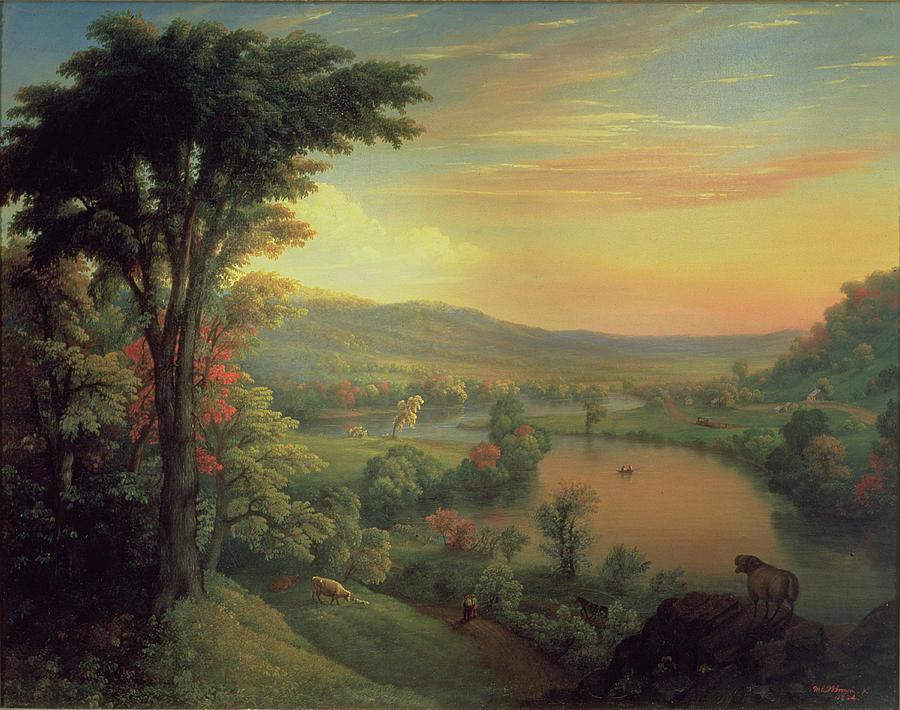 Tree Painting - View Of The Mohawk Near Little Falls by Mannevillette Elihu Dearing Brown