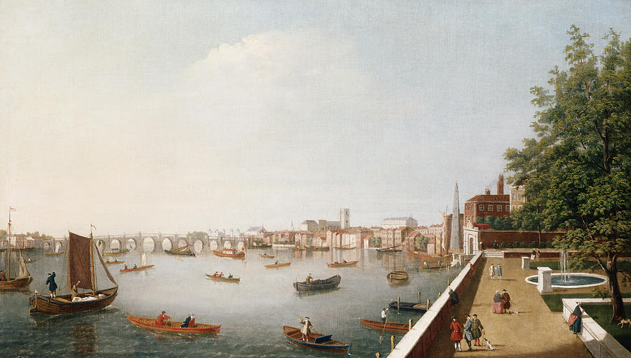 View Painting - View Of The River Thames From The Adelphi Terrace  by William James