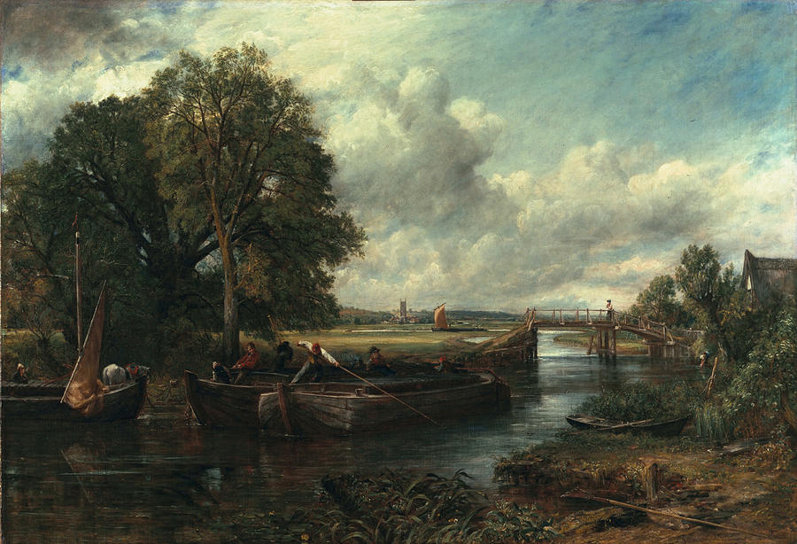 Landscape Painting - View Of The Stour Near Dedham by John Constable