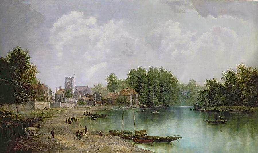 View Painting - View Of Twickenham by W Howard