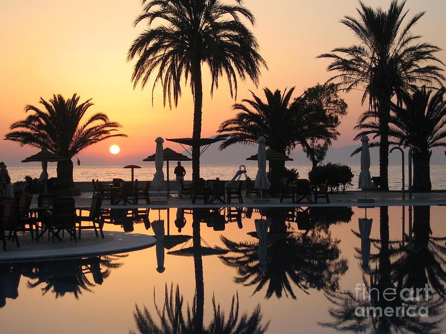Kephalonia Photograph - View To Kephalonia Island by Roswitha Schmuecker