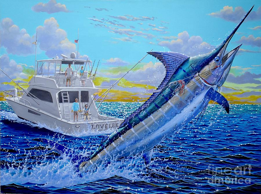 Viking Marlin Painting By Carey Chen