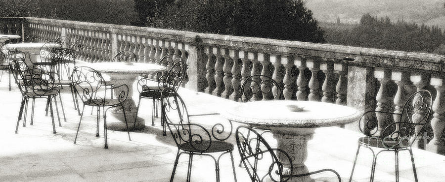 Villa Lecchi Terrace 2 Sepia by VICKI HONE SMITH