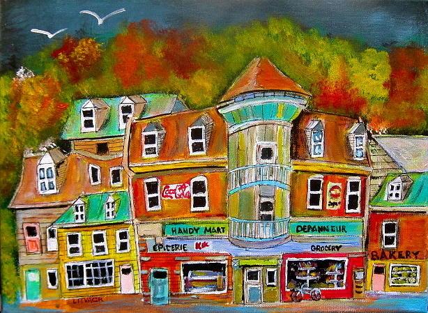 Autumn Painting - Village Autumn by Michael Litvack
