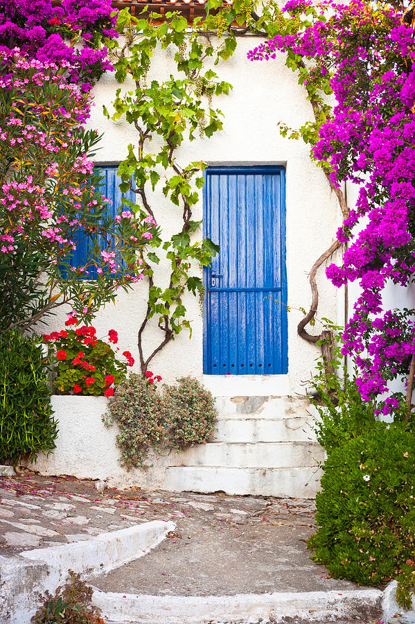 Alley Photograph - Village In Greece by Tom Gowanlock