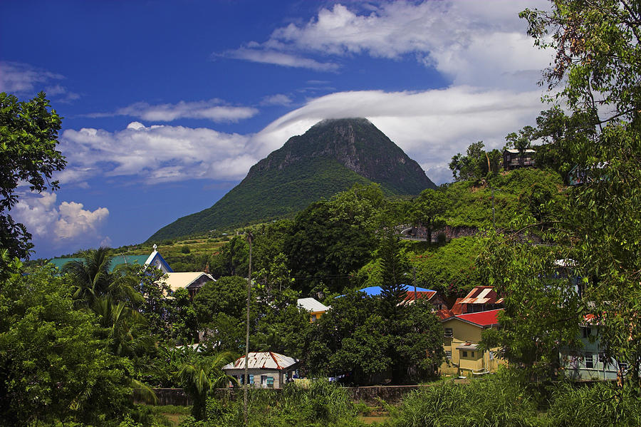 Village of choiseul- St Lucia by Chester Williams