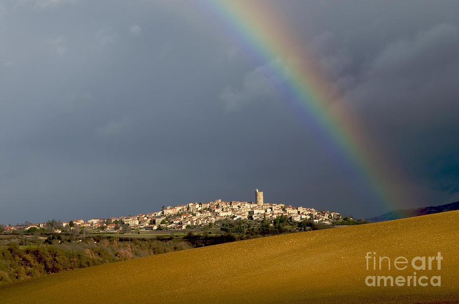Weather Photograph - Village Of Montpeyroux. Auvergne. France by Bernard Jaubert