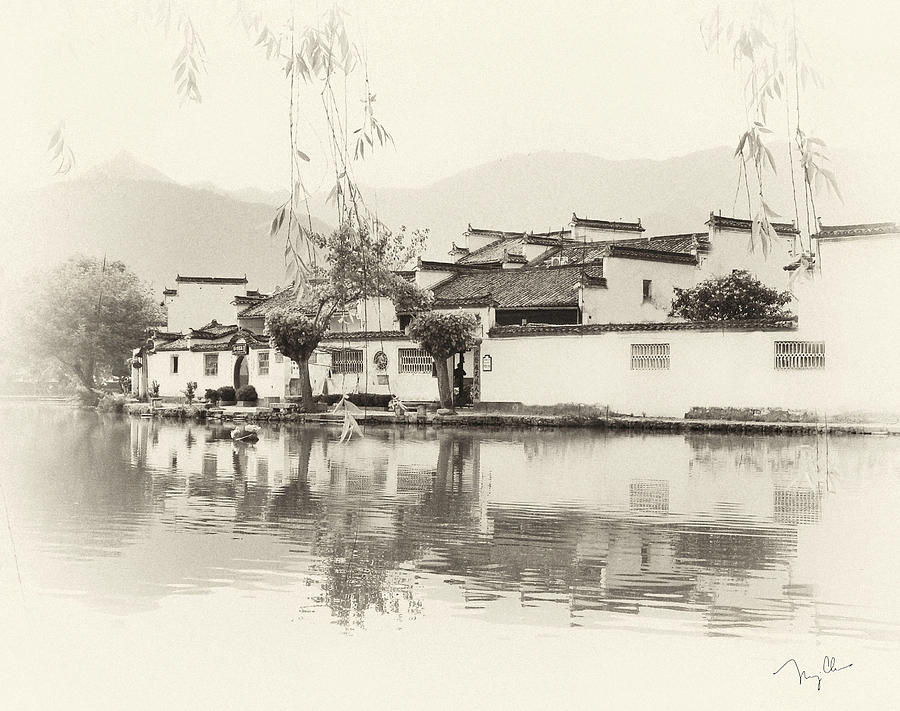Water Town Photograph - Village On Water by Nian Chen