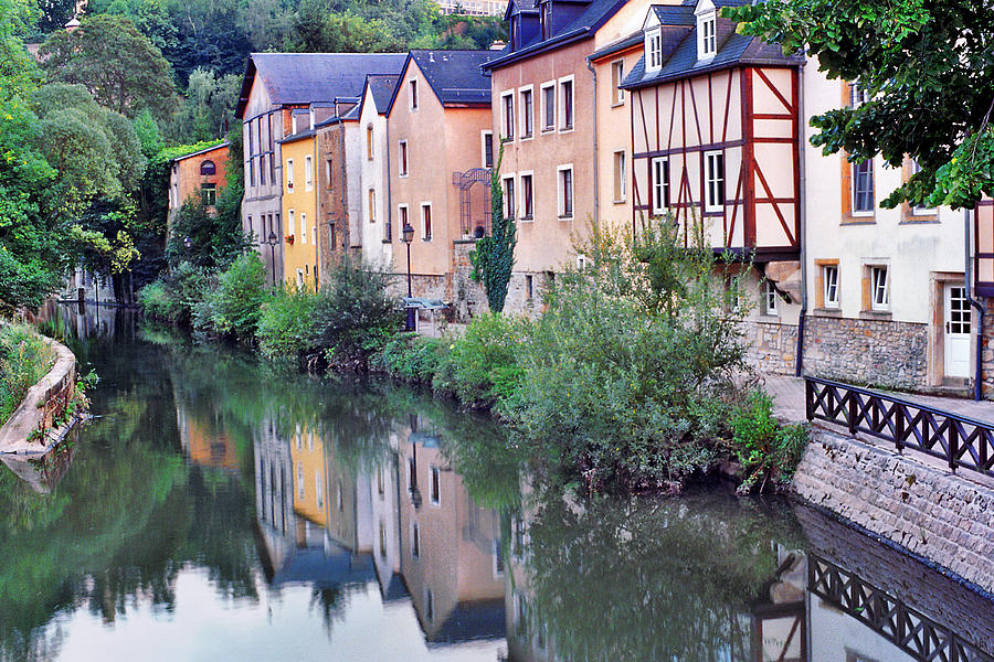 Luxembourg Photograph - Village Reflections In Luxembourg I by Greg Matchick