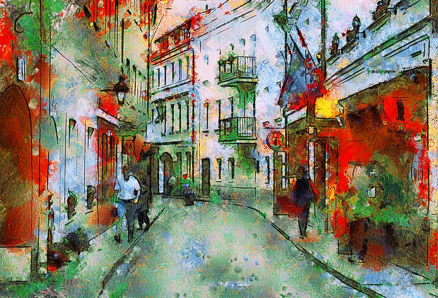 Vilnius Digital Art - Vilnius Walk by Yury Malkov