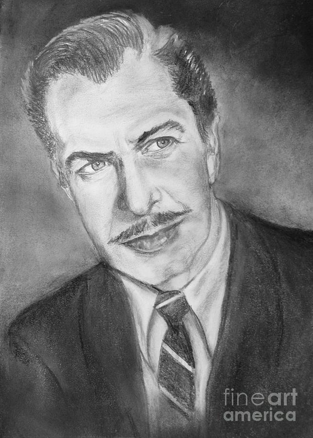 Vincent Price Drawing - Vincent Price by Elisabeth Dubois
