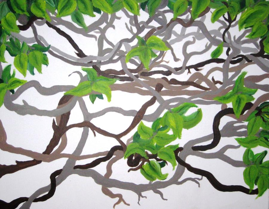 Vines Painting - Vines by Darnillious Designs