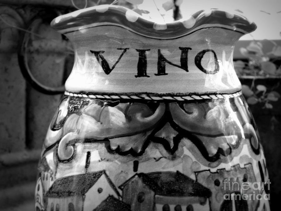 Ceramics Photograph - Vino by Tanya  Searcy