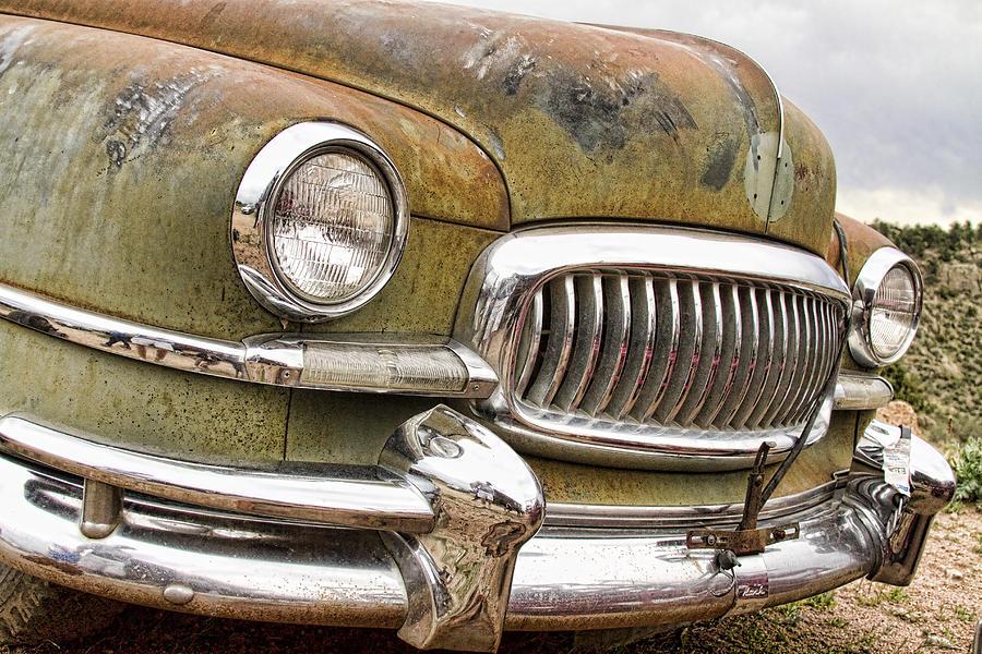 1951 Photograph - Vintage 1951 Nash Ambassador Front End 2 by James BO  Insogna