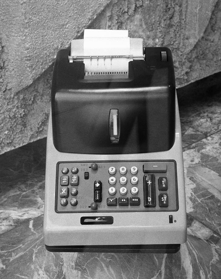 Vertical Photograph - Vintage Adding Machine by George Marks