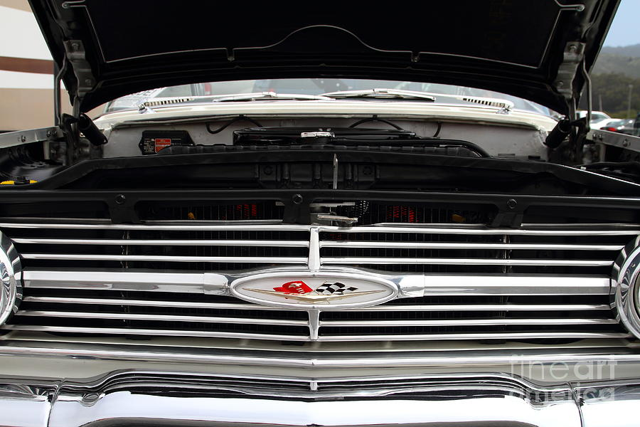 Chevy Photograph - Vintage American Chevrolet Emblem And Grille 7d15159 by Wingsdomain Art and Photography