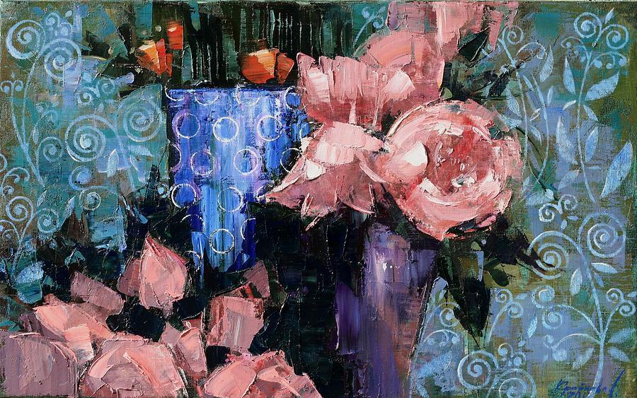 Flowers Painting - Vintage by Anastasija Kraineva