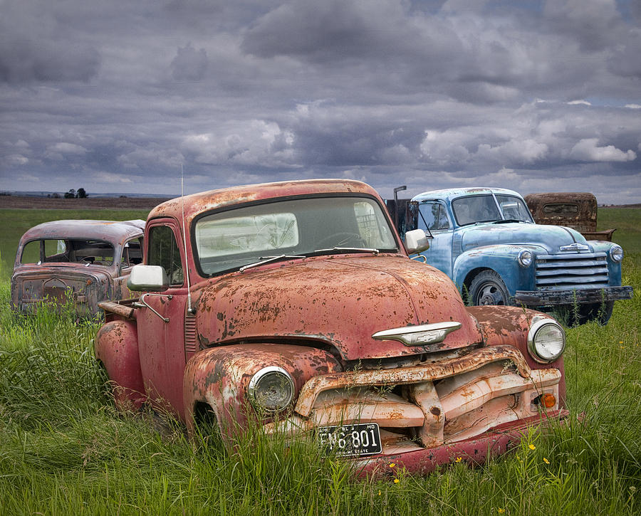 Vintage Auto Junk Yard Photograph By Randall Nyhof