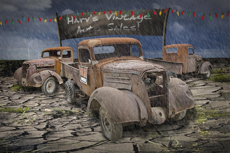 Vintage Auto Sales By Harv Photograph by Randall Nyhof