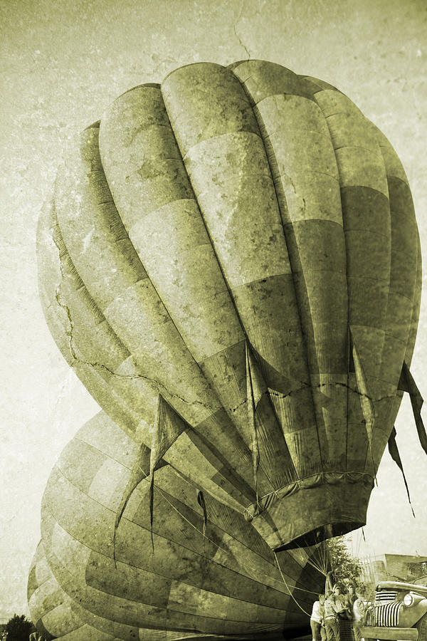 Vintage Photograph - Vintage Ballooning II by Betsy Knapp