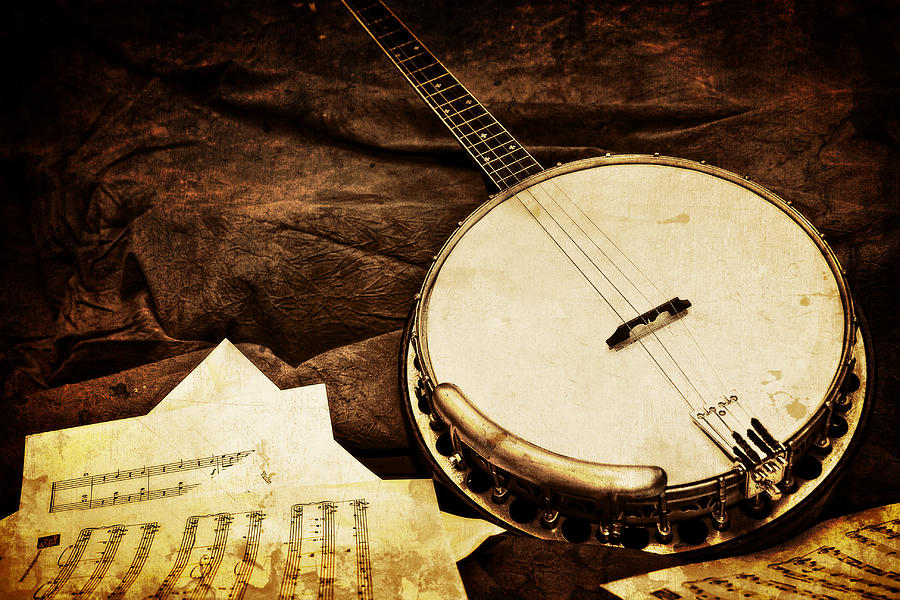 Old Photograph - Vintage Banjo by Trudy Wilkerson